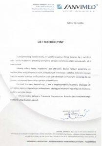 List referencyjny 1